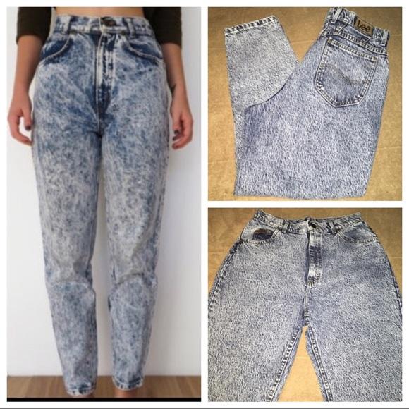 ba498b68 Lee Denim - Lee vintage Mom jeans acid wash high waist.